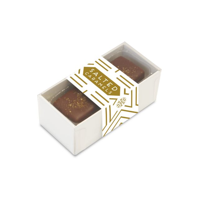 2 Choc Box – Dark Chocolate Salted Caramels – REDUCED PRICE