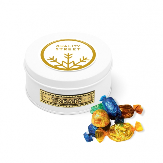Winter Collection – Treat Tin – White – Quality Street
