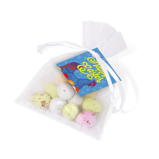 Easter – Organza Bag – Speckled Eggs