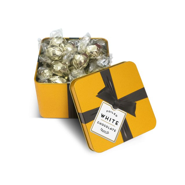 Special Offers – Large Gold Tin – White Chocolate Truffles