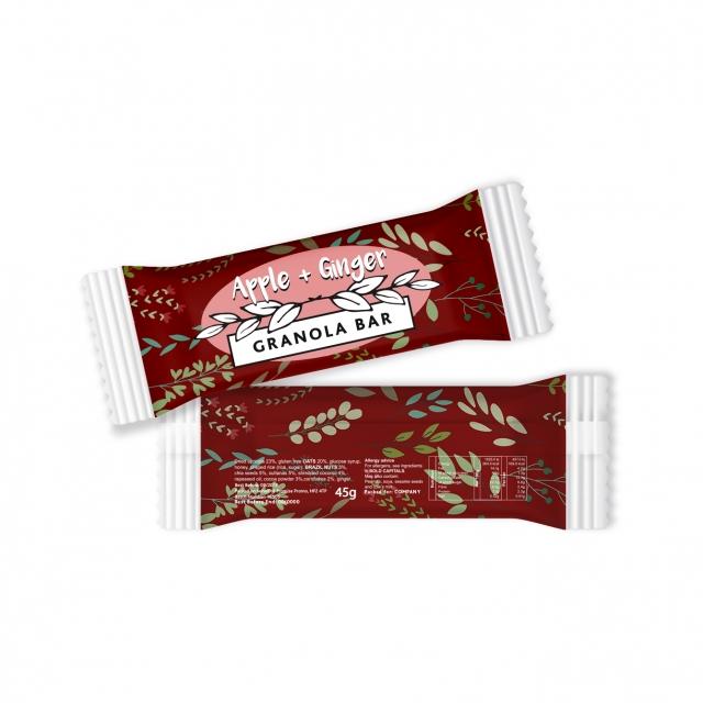 Paper Flow Bag – Apple & Ginger – Granola Bar