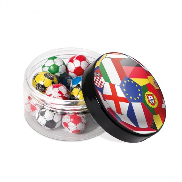 Screw Top Jar – Chocolate Footballs